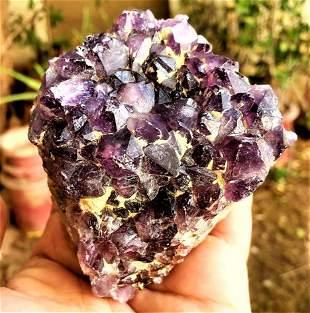 Amethyst Crystals Cluster SpeCimen - 438.6 Grams