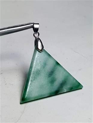 Sterling Silver Jade Stone Pendant
