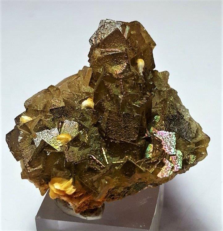 85 Grams Cubic Rainbow Fluorite