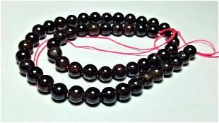 Polished Garnet Beaded Necklace