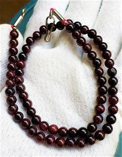 Dark Brown Beautiful Garnet beaded necklace