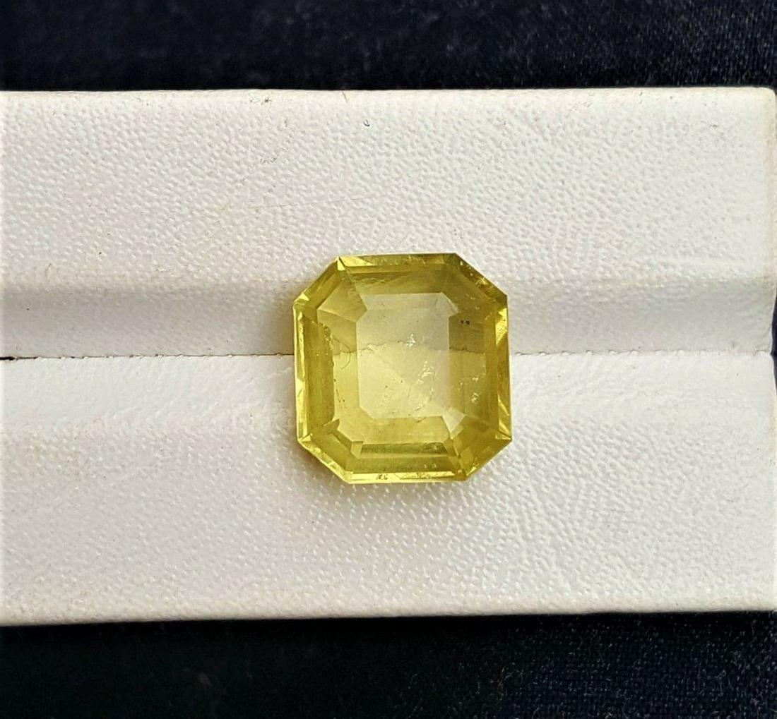 Square Cut Lemon Quartz - 8.5 Carats