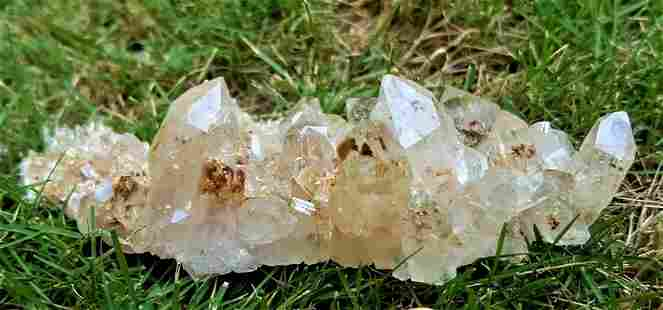 Tangerine Quartz Crystal Cluster - 120 Grams