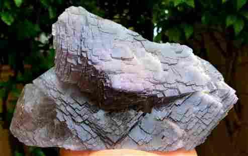 Huge Undamaged Purple Fluorite Crystal - 1256 Grams