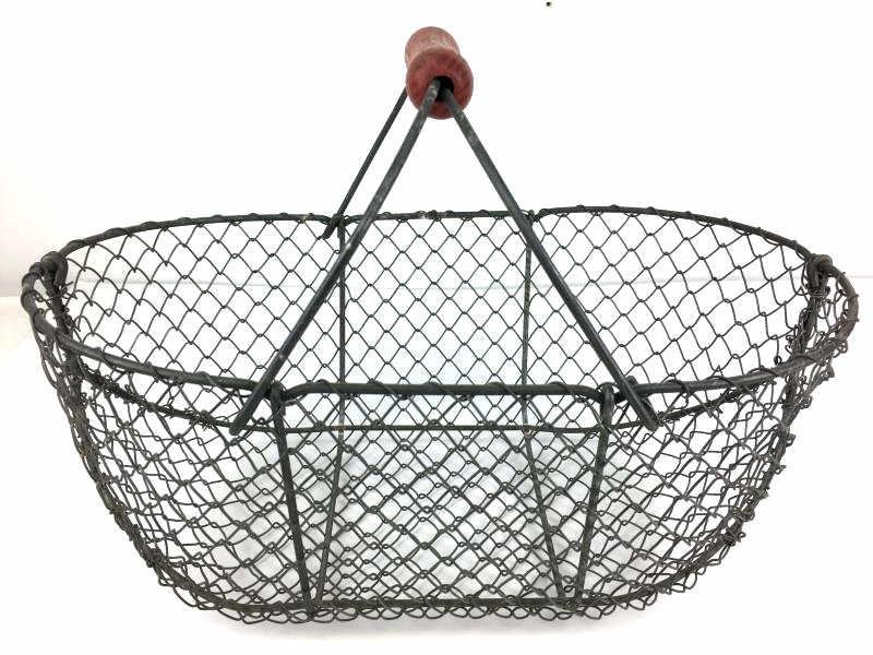 Metal Wire Basket with red handle
