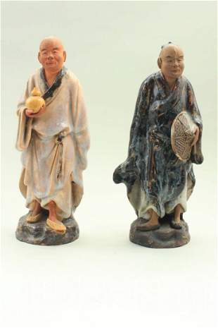 Porcelain 19th century Chinese figures