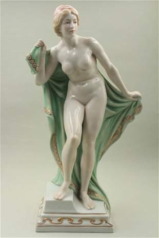 Procelain Nude woman sculpture
