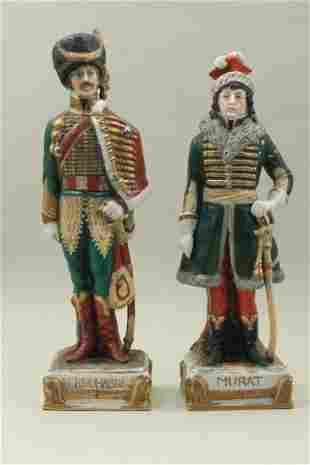 Figures of two porcelain soldiers