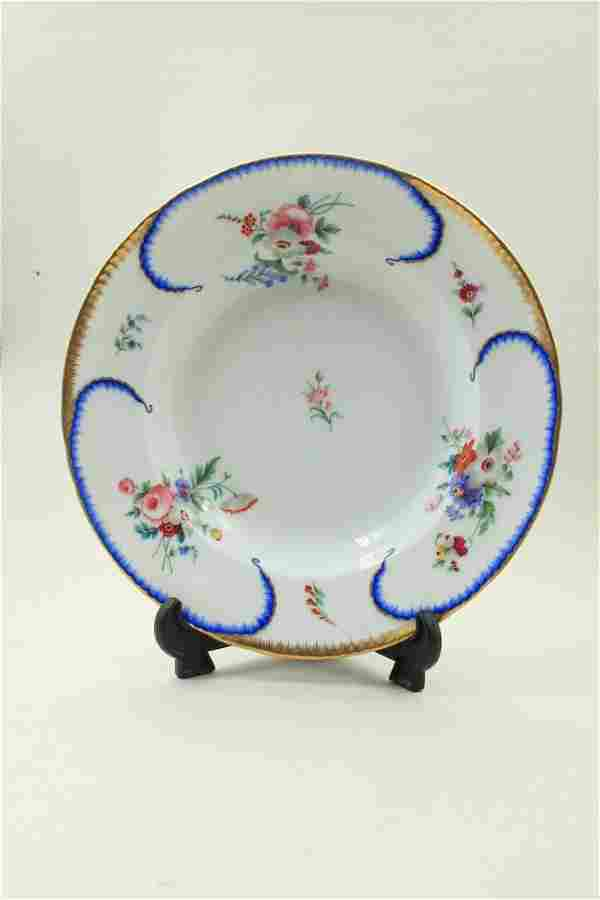 Russian porcelain plate decorated