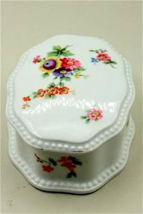 A small porcelain box
