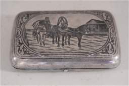 Silver case with nylon