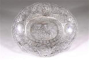 Silver fruit basket