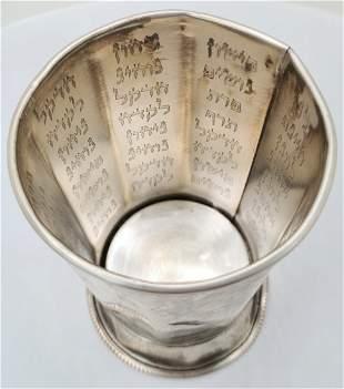 Purple silver Kiddush cup