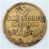A medal minted on the occasion of the series of