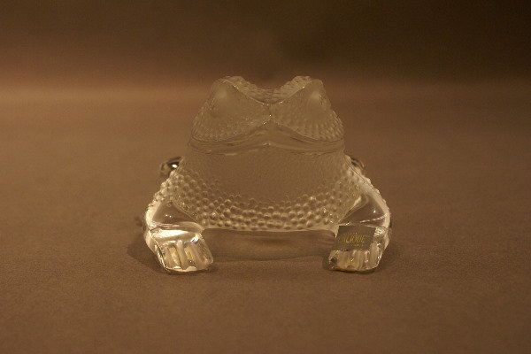 16: Crystal Frog,  etched Lalique