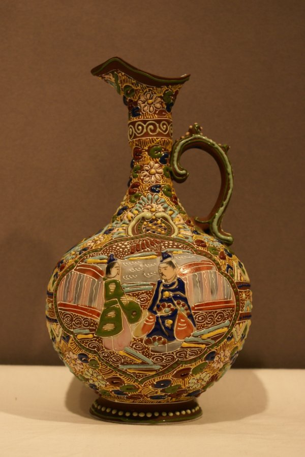 180: Moriage Decorated Ewer