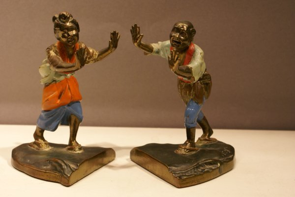 181: Pair Oriental Motif Figural Bookends