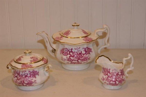 1001: 19th C English China Child's Tea Set