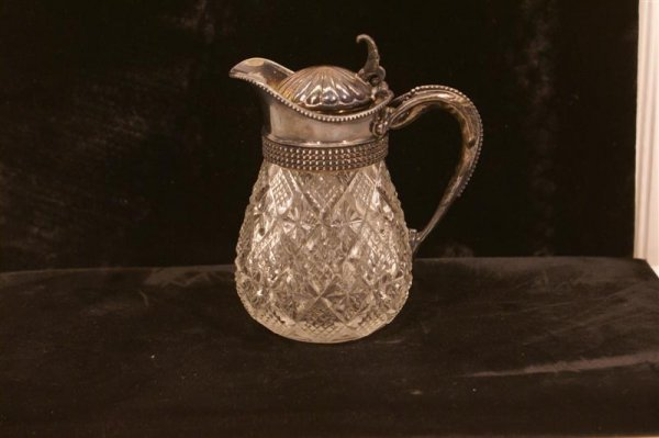 1003: American Cut Glass Syrup Pitcher