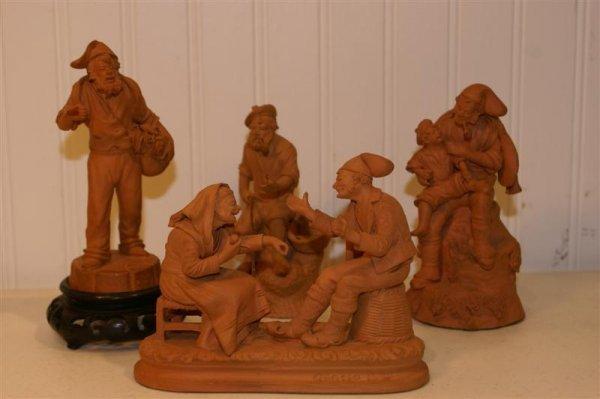1006: Four Terra Cotta Figurines, Grasso S