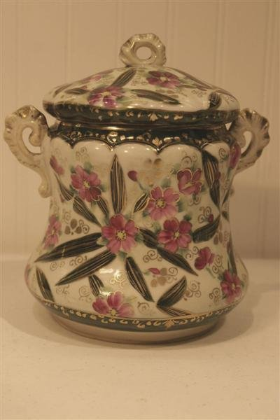 """1011: Unsigned Nippon Biscuit Jar, 8"""""""