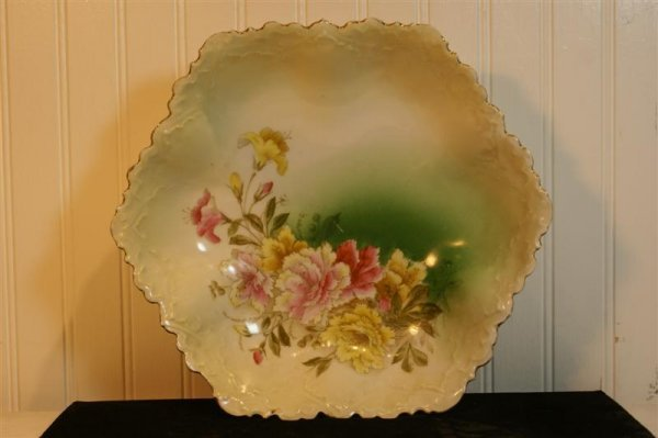 1021: PT Germany Floral Serving Bowl