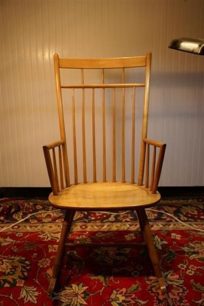 1024: Cabinet Made Maple Windsor Rocker