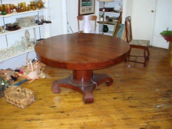 1040: 19th C Round Empire Table