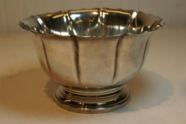 2001: Sterling Flower Motif Bowl