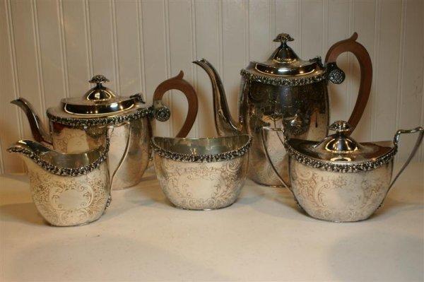 2002: Five Piece English Tea & Coffee Set