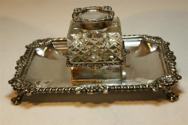 2003: Cut Crystal & Silverplated Inkwell