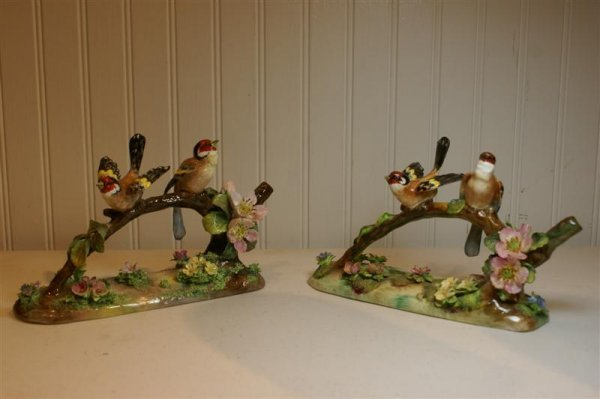 2006: Pair Crown Staffordshire Figures