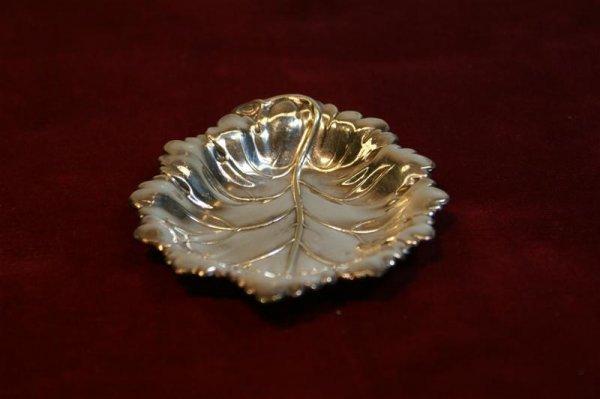 2013: Six Barker Ellis Nut Dishes,  Leaf Motif