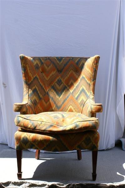 2014: Pr. Hepplewhite style Wing Chairs