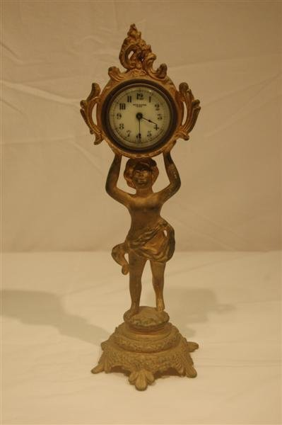 1002: NEW HAVEN FIGURAL CLOCK