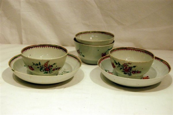 2008: SIX PCS OF CHINESE EXPORT PORCELAIN - FOUR CUPS &