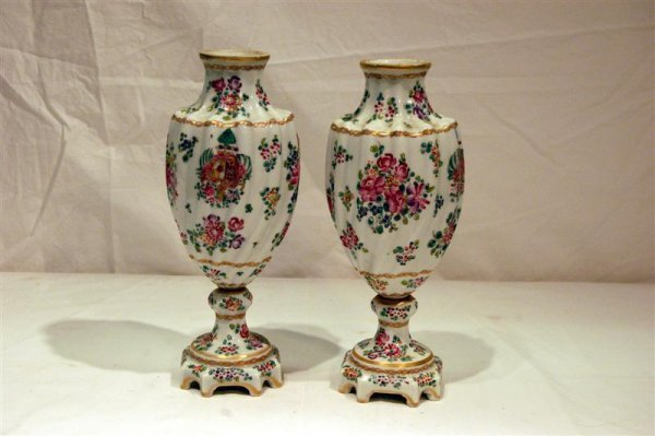 2012: PR CHINESE EXPORT STYLE VASES, FLORAL PROBABLY SA