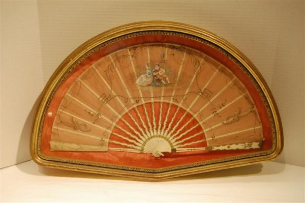 4013: SIGNED EMBROIDERED FAN