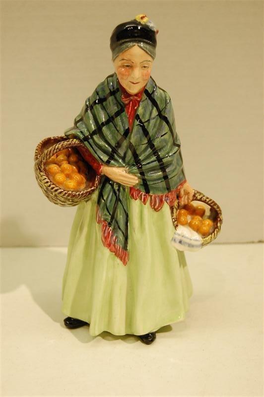 """1003: ROYAL DOULTON ORANGE LADY""""- HAND WRITTEN HN #1953"""