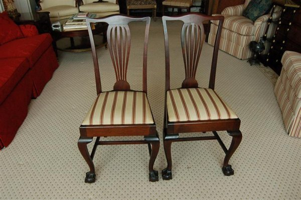 3010: PR MAOGANY SIDE CHAIRS
