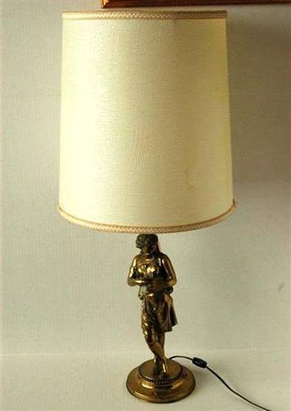 3018: FIGURAL BRASS TABLE LAMP