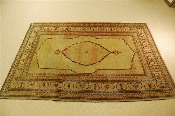 3089: ANTIQUE PERSIAN TABRIZ THROW RUG