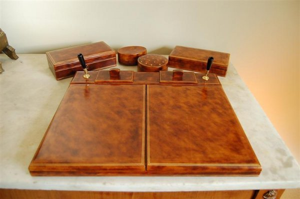 2002: LEATHER DESK ITEMS