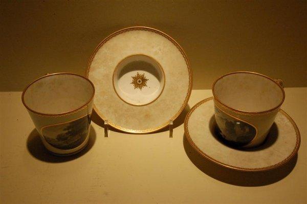3021: PR ENGLISH PORCELAIN CUPS & SAUCERS