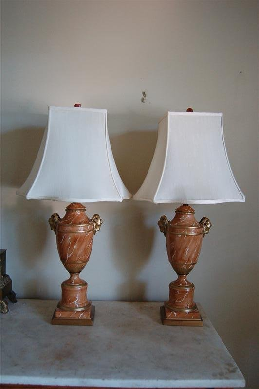3023: PR PORCELAIN TABLE LAMPS