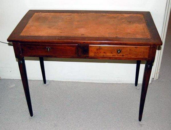 3080: MAHOGANY FINISH WRITING TABLE
