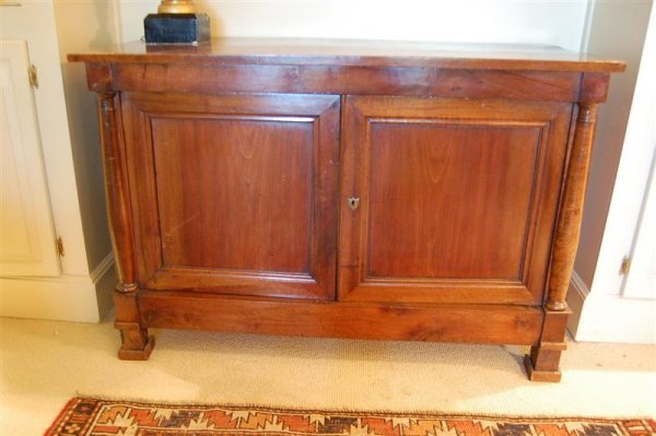 3085: FRENCH WALNUT CONSOLE CABINET