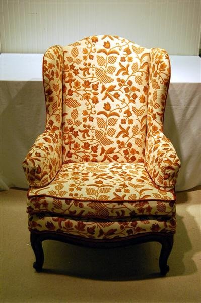 184: PAIR OF CLEAN QUEEN ANNE STYLE WING CHAIRS