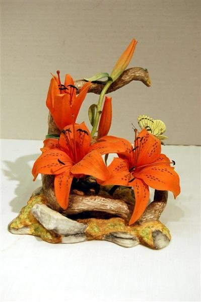 "186: BOEHM TIGER LILY - 7 3/4"" TALL, 7 3/4"" X 8"" - SOME"