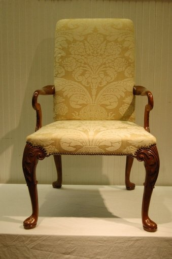 394: FOUR BAKER QUEEN ANNE STYLE ARM CHAIRS